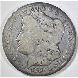 1892-CC MORGAN DOLLAR, VG