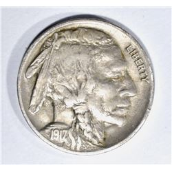 1917-D BUFFALO NICKEL, AU