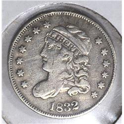 1832 BUST HALF DIME, VF/XF