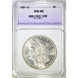1891-O MORGAN DOLLAR APCG GEM BU