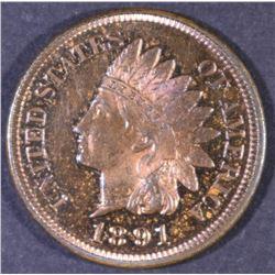 1891 INDIAN CENT GEM PROOF RB
