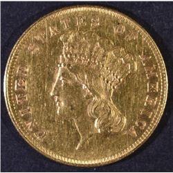 1857 $3 GOLD AU/BU
