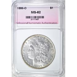 1886-O MORGAN DOLLAR, PNA BU