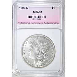 1896-O MORGAN DOLLAR, PNA BU