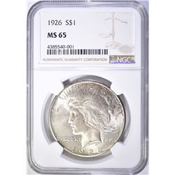 1926 PEACE DOLLAR NGC MS 65