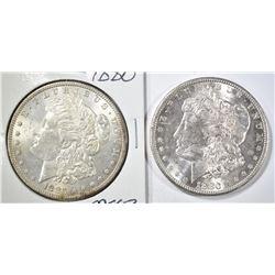 1880 & 1880-S CH BU MORGAN DOLLARS