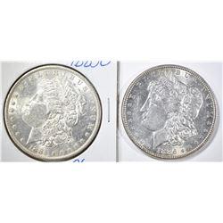 1885-O & 1886 CH BU MORGAN DOLLARS
