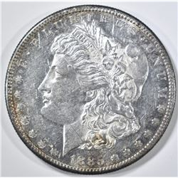 1885-S MORGAN DOLLAR AU/BU LIGHT SCRATCH OBV.