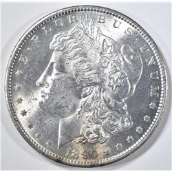 1890-S MORGAN DOLLAR CH BU, REV IS PL