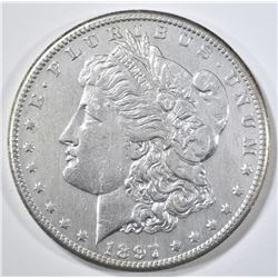 1897-S MORGAN DOLLAR CH AU OLD CLEANING