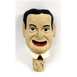 Vintage Ceramic Bob Hope Whiskey Bottle Stopper