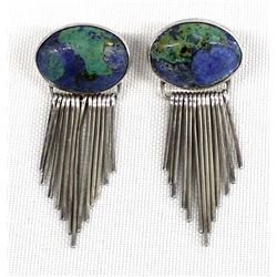 Jim Hayes Sterling Azurite Earrings
