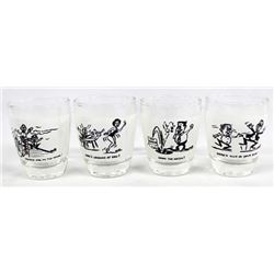 Vintage Novelty Anchor Hocking Shot Glasses