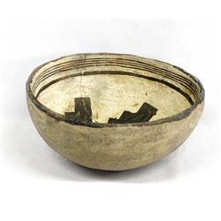 Prehistoric Mimbres Black on White Designed Bowl