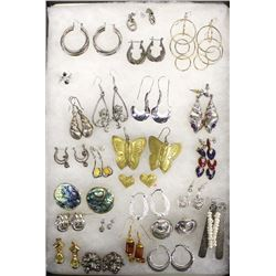 Collection of Estate Earrings, Some Sterling