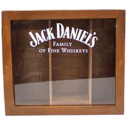 Jack Daniel's Glass & Wood Whiskey Display Box
