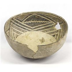 Prehistoric Mimbres Black on White Geometric Bowl