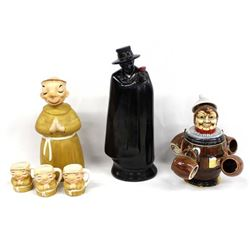 3 Character Ceramic Whiskey Decanters