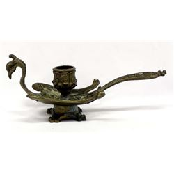Italian Cast Metal Bird Candle Holder