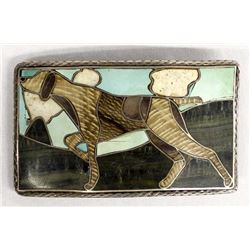 Sterling Silver Inlay Belt Buckle