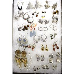 Collection of Estate Pierced Earrings