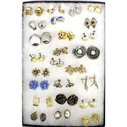 Collection Vintage Estate Clip-On Earrings