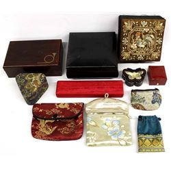 Collection of Jewelry Pouches and Boxes