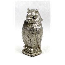 Cast Metal Owl Pillbox