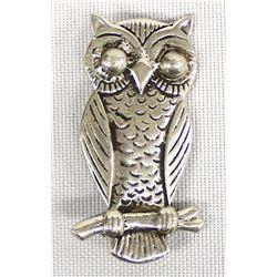 Navajo Sterling Silver Owl Pin