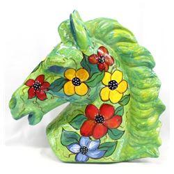 Large Handpainted Ceramic Horse Head
