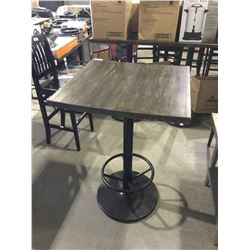 """Wooden Bar Table 30"""" x 30"""" x 44"""" H"""