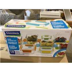 Glasslock18pc Tempered Glass Food Storage Set