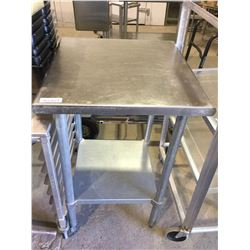"""Stainless Steel Table 24"""" x 24"""" x 36"""" H"""
