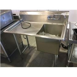 "Stainless Steel Prep Sink 42"" x 24"" x 36"" H"