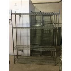 "4-Tier Metal Storage Rack 60"" x 14"" x 74"" H"