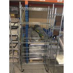 "5-Tier Metal Rolling Storage Rack 36"" x 18"" x 86"" H"