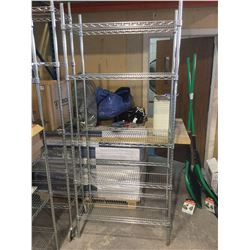 "4-Tier Metal Storage Rack 35"" x 18"" x 82"" H"