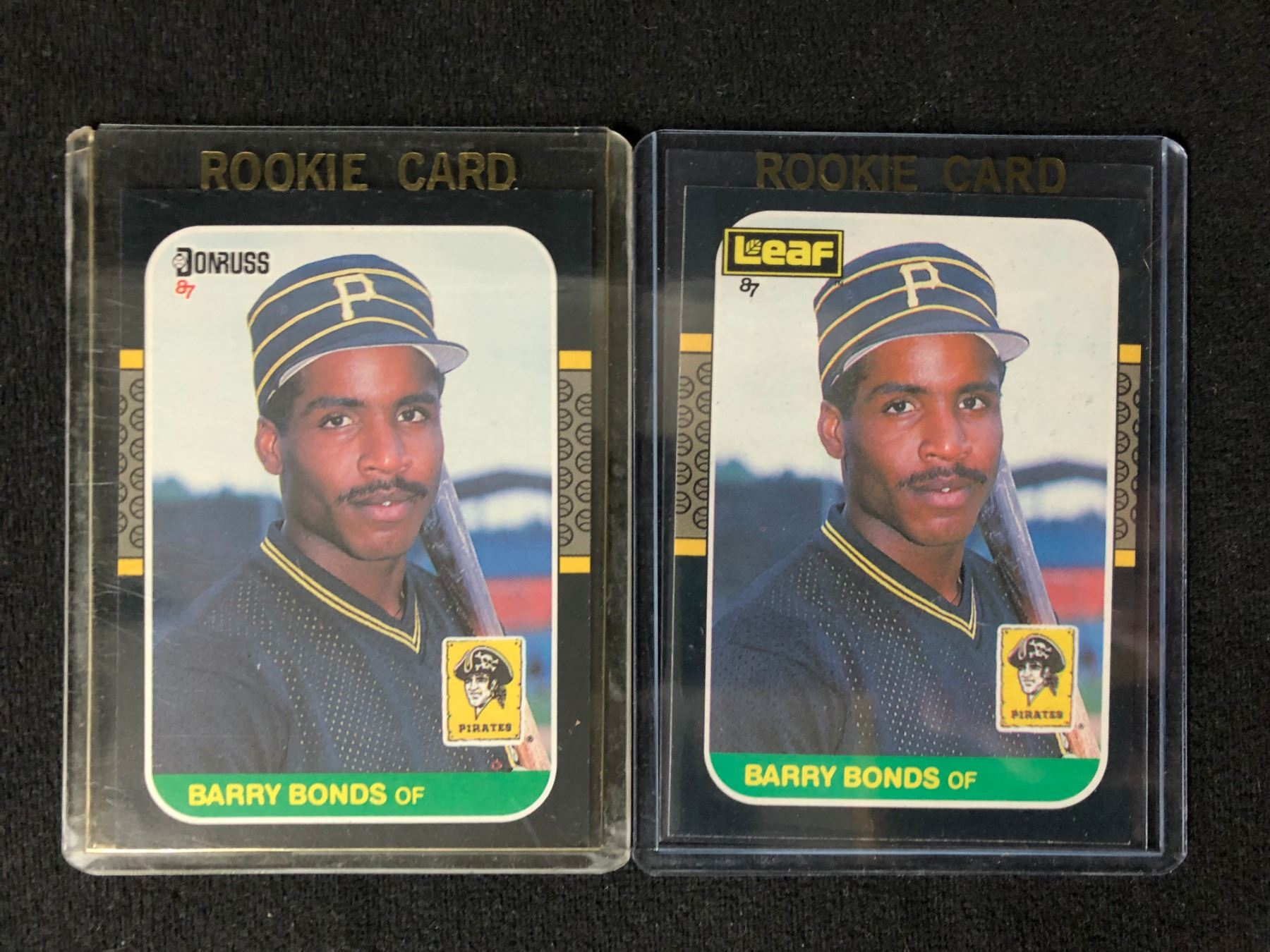 1987 Barry Bonds Baseball Rookie Card Lot Donruss 361 Leaf 219