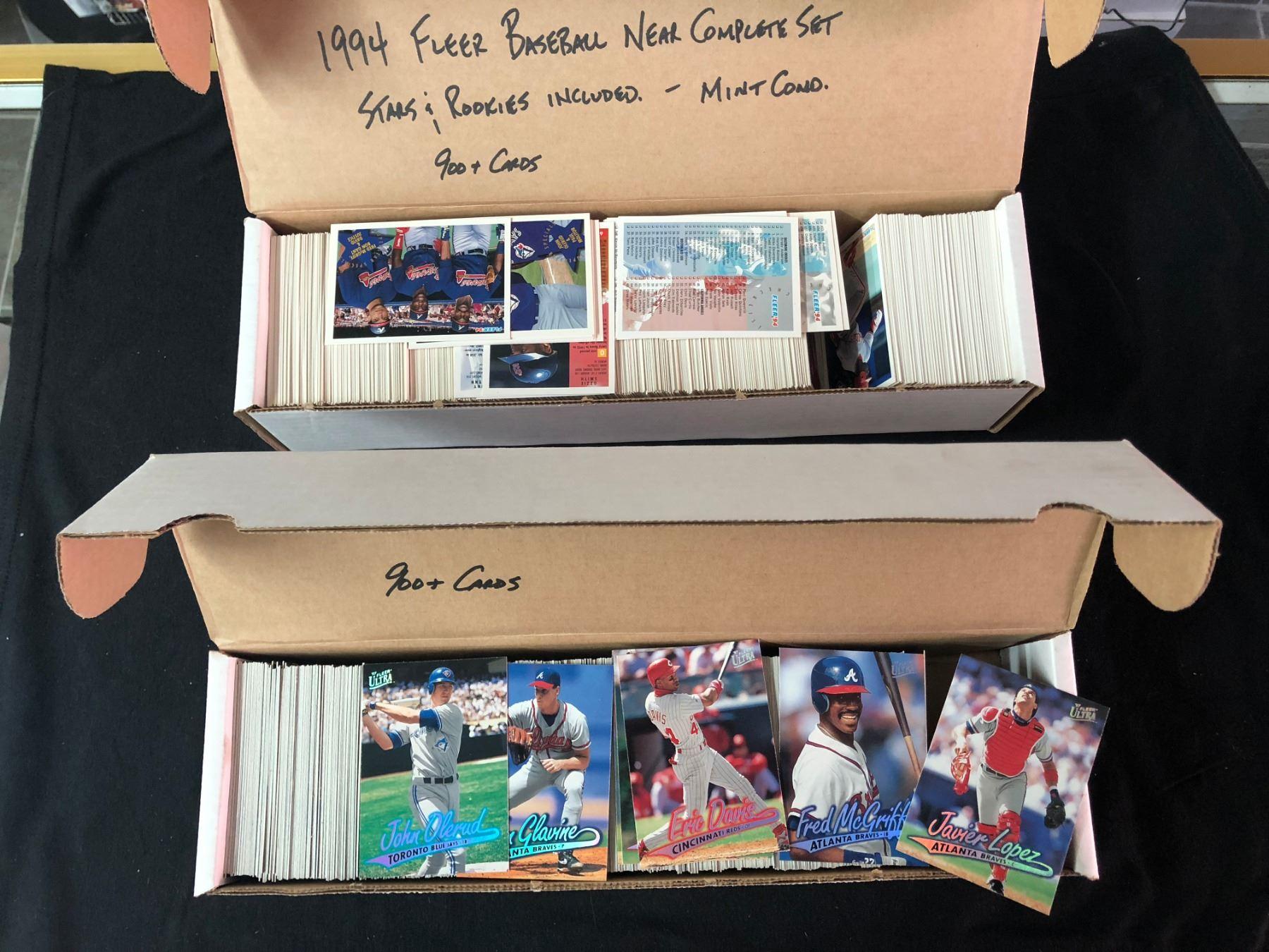 Baseball Card Lot 1800 Cards 1994 Fleer Baseball Near Complete Set Includes Stars Rookies