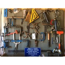 RACK STORAGE SYSTEM FILLED WITH ASSTD HAND TOOLS