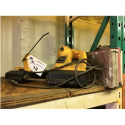 POWER FIST PORTABLE BAND SAW WITH 5 BLADES