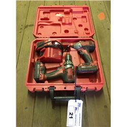 MILWAUKEE 18V CORDLESS DRILL AND IMPACT DRIVER SET