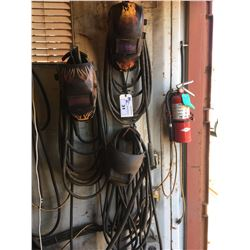 3 WELDING HELMETS AND ARC WELDING LINES