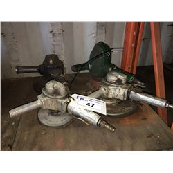 GROUP OF 4 PNEUMATIC DISC GRINDERS