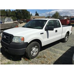 2006 FORD F-150 PICK UP TRUCK, WHITE, VIN 1FTPX12556FB56503, ODO 246 742 KMS,