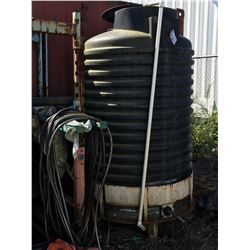 PACIFIC NORTHWEST TANKS 500 USGAL WATER TANK, WITH APROX 100' OF HOSE LINE