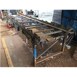 STEEL WELDING TABLE/WORK TABLE APPROX 17'