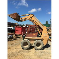 1993 CASE 1845C UNI-LOADER SKID STEER WITH FORKS AND BUCKET ATTACHMENT (3,652 HR'S)