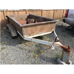 9' TANDEM UTILITY TRAILER WITH STAINLESS STEEL BED, C/ W TRAILER DOLLY - U-BUILT - NO REGISTRATION