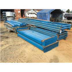 GROUP OF MASTO RACK PALLET RACKING-UPRIGHTS AND BEAMS (BLUE)